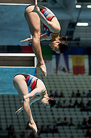 KIM Nami, MOON Nayun KOR<br /> Diving <br /> Women's 3m Synchro Springboard Preliminary<br /> Day 04 17/07/2017 <br /> XVII FINA World Championships Aquatics<br /> Duna Arena Budapest Hungary July 15th - 30th 2017 <br /> Photo @A.Masini/Deepbluemedia/Insidefoto