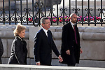 Spain Justice Minister Alberto Ruiz Gallardon attends the 11M March 11, 2004 terrorist attempt remember mass at Almudena Cathedral in Madrid, Spain. March 11, 2014. (ALTERPHOTOS/Victor Blanco)
