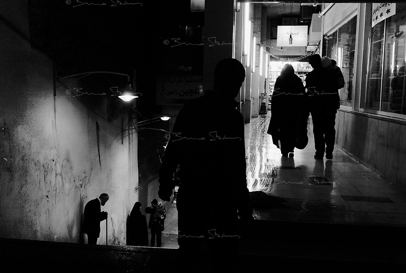 Teheran, Iran, March 21, 2007.Night street scene.