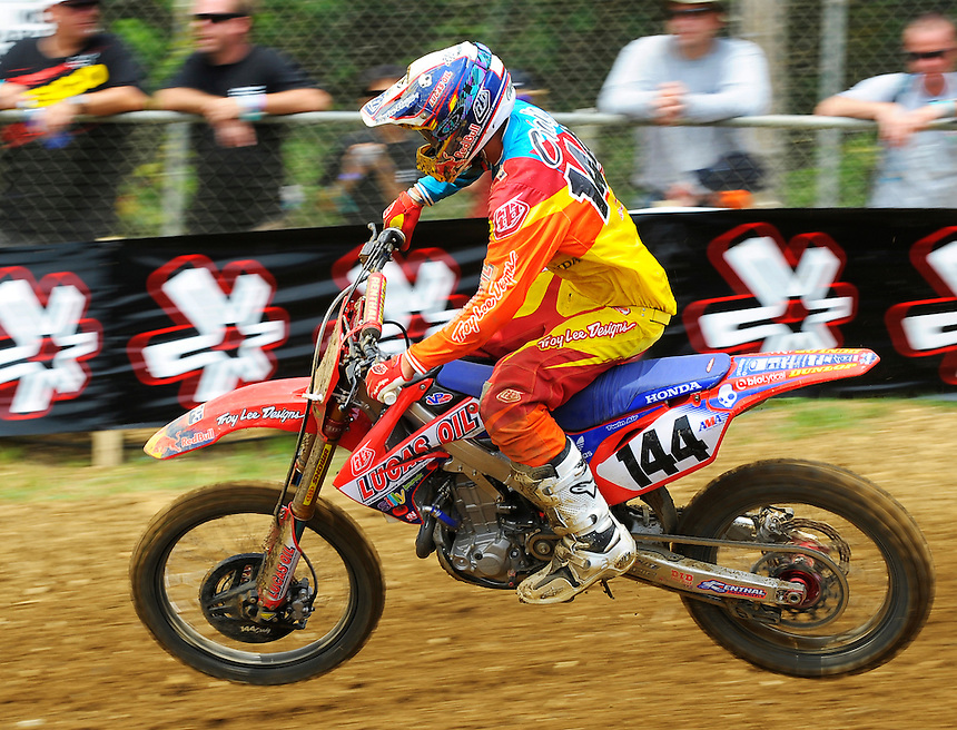 Christian Craig during the first moto of the 450 class during the Lucas Oil AMA Pro Motocross at Budds Creek National in Mechanicsville, Maryland on Saturday, June 18, 2011. Alan P. Santos/DC Sports Box