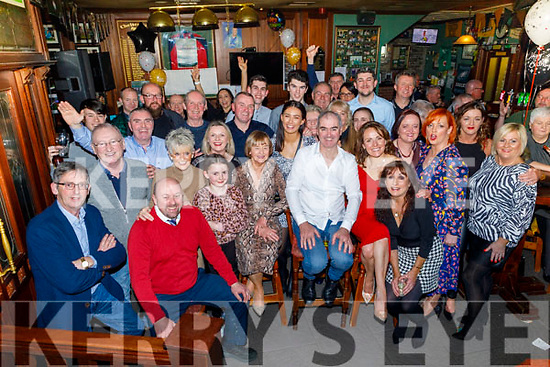 Mark Teahan  (seated centre) from Tralee celebrating his 50th birthday in the Castle Bar on Friday<br /> Seated l to r: Aidan and Sophie Teahan, Francis Moriarty, Marion and Mark Teahan and Sandra Leahy.