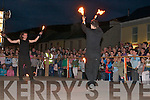 Passepartout Fire Show was a hugh attraction outside the community centre last Saturday night at the Cahersiveen Celtic music and arts festival    Copyright Kerry's Eye 2008
