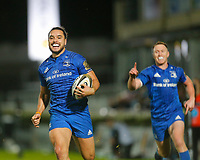 1st November 2019; RDS Arena, Dublin, Leinster, Ireland; Guinness Pro 14 Rugby, Leinster versus Dragons; James Lowe of Leinster on his way to running in a try - Editorial Use