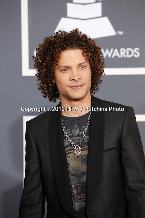 Justin Guarini.arriving at the 2010 Grammy's.Staples Center.Los Angeles, CA.January 31, 2010.©2010 HPA / Hutchins Photo....