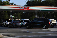 PARKLAND, FL - JULY 31: People are waiting in long lines for fuel as Hurricane Isaias tracks towards Florida in addition to Florida reporting more than 9,007 new COVID-19 cases Friday and 257 deaths on July 31, 2020 in Parkland, Florida. Credit: mpi04/MediaPunch