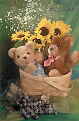 Interlitho, Alberto, CUTE ANIMALS, teddies, photos, teddies, grapes, flower(KL15960,#AC#)
