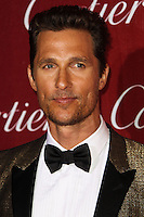 PALM SPRINGS, CA - JANUARY 04: Matthew McConaughey arriving at the 25th Annual Palm Springs International Film Festival Awards Gala held at Palm Springs Convention Center on January 4, 2014 in Palm Springs, California. (Photo by Xavier Collin/Celebrity Monitor)