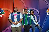 LOS ANGELES - FEB 20:  Colton Dunn, Nico Santos, Nichole Bloom at the NBC's Los Angeles Mid-Season Press Junket at the NBC Universal Lot on February 20, 2019 in Universal City, CA