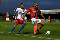 Remy Clerima of Maidenhead and Chike Kandi of Dagenham during Dagenham & Redbridge vs Maidenhead United, Vanarama National League Football at the Chigwell Construction Stadium on 7th December 2019
