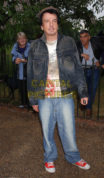 NIKKI HASLAM .Serpentine Gallery Summer Party. London, UK.2nd July 2003 .full length, full-length, denim, jeans, converse.www.capitalpictures.com.sales@capitalpictures.com.Supplied By Capital PIctures