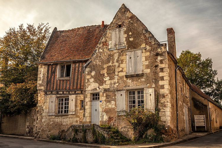 The small village of Villandry contains side streets lined with traditional homes from a bygone era.