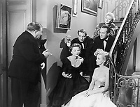 All About Eve (1950)<br /> Anne Baxter, Marilyn Monroe, Celeste Holm &amp; George Sanders<br /> *Filmstill - Editorial Use Only*<br /> CAP/KFS<br /> Image supplied by Capital Pictures