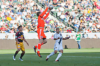 Carson, California - May 5, 2012: The New York Red Bulls defeated the LA Galaxy 1-0 during a Major League Soccer (MLS) game at Home Depot Center stadium in Carson, California.