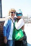 As The World Turns Elllen Dolan poses with friend Anthony Sweeney as she stars Empire The Series films on set June 3, 2012  in Brooklyn, New York. (Photo by Sue Coflin/Max Photos)