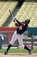 August 9 2008: Jonathan Singleton participates in the Aflac All American baseball game for incoming high school seniors at Dodger Stadium in Los Angeles,CA.  Photo by Larry Goren/Four Seam Images