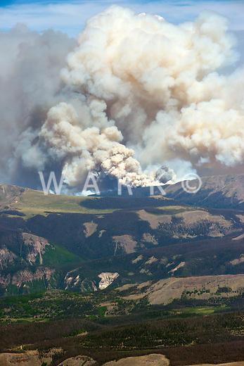 West Fork Complex wildfire near Pagosa Springs, Colorado. June 2013.