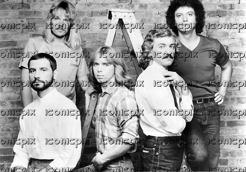 STYX - L-R: Chuck Panozzo, James Young, Tommy Shaw, Dennis De Young, John Panozzo - 1976.  Photo credit: MM-Media Archive/IconicPix