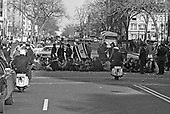 A coalition of Jewish groups including the militant Jewish Defense League (JDL) held a sit in on the main streets of Washington, DC on March 21, 1971 to protest the treatment of Soviet Jews.  More than 680 persons were arrested in the peaceful demonstration near the Russian Embassy when they refused to obey police orders to stop blocking the streets.<br /> Credit: Len Owens / CNP
