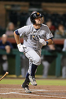 Salt River Rafters catcher Curt Casali (35), of the Tampa Bay Rays organization, during an Arizona Fall League game against the Scottsdale Scorpions on October 9, 2013 at Scottsdale Stadium in Scottsdale, Arizona.  Salt River defeated Scottsdale 12-2.  (Mike Janes/Four Seam Images)