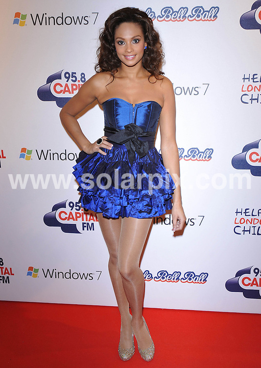 **ALL ROUND PICTURES FROM SOLARPIX.COM**.**WORLDWIDE SYNDICATION RIGHTS**.Press room at the Jinglebell Ball 2009. Held at the O2 Arena, Greenwich Peninsula in London UK..This pic:Alesha Dixon..JOB REF: 10346      SSD     DATE:06.12.09.**MUST CREDIT SOLARPIX.COM OR DOUBLE FEE WILL BE CHARGED**.**MUST NOTIFY SOLARPIX OF ONLINE USAGE**.**CALL US ON: +34 952 811 768 or LOW RATE FROM UK 0844 617 7637**