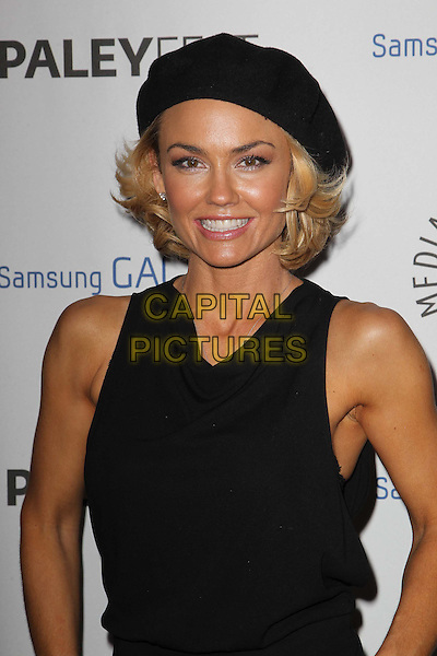 Kelly Carlson.PaleyFest Icon Award 2013 Held At The Paley Center for Media, Beverly Hills, California, USA..February 27th, 2013.half length black sleeveless beret hat .CAP/ADM/KB.©Kevan Brooks/AdMedia/Capital Pictures.
