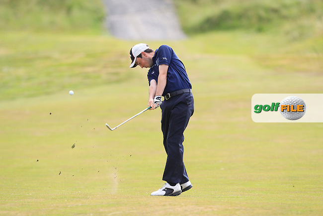 Eamonn O'Driscoll (Killarney) on the 18th fairway during Round 3 of the Ulster Boys Championship at Castlerock Golf Club on Wednesday 2nd July 2015.<br /> Picture:  Golffile | Thos Caffrey