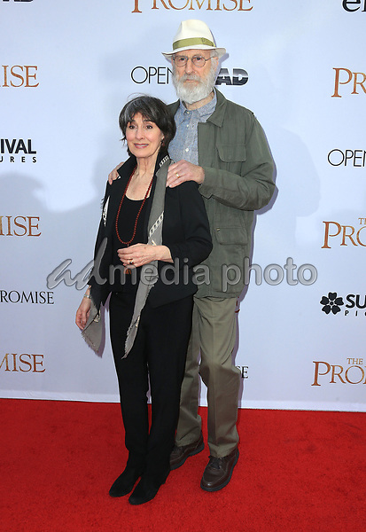 "12 April 2017 - Hollywood, California - James Cromwell, Anna Stuart. Premiere Of Open Road Films' ""The Promise"" held at TCL Chinese Theatre. Photo Credit: AdMedia"