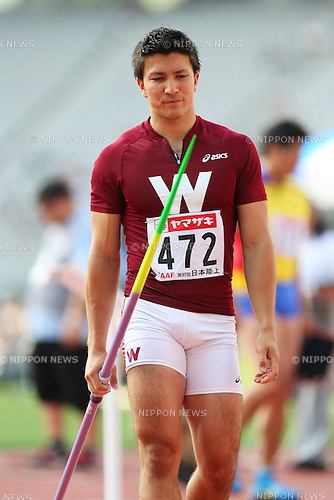 Genki Dean (JPN), <br /> June 8, 2013 - Athletics : <br /> The 97th Japan Athletics National Championships, Men's Javelin Throw Final <br /> at Ajinomoto Stadium, Tokyo, Japan. <br /> (Photo by Daiju Kitamura/AFLO SPORT)