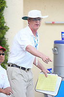 10 May 2008: Stanford Cardinal head coach John Tanner during Stanford's 10-6 loss against the USC Trojans in the National Collegiate Women's Water Polo Tournament semifinal game at Avery Aquatic Center in Stanford, CA.