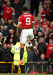 Anthony Martial of Manchester United celebrates his equalising goal during the Emirates FA Cup match at Old Trafford. Photo credit should read: Philip Oldham/Sportimage