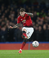 Manchester United's Victor Lindelof<br /> <br /> Photographer Rob Newell/CameraSport<br /> <br /> Emirates FA Cup Fifth Round - Chelsea v Manchester United - Monday 18th February - Stamford Bridge - London<br />  <br /> World Copyright © 2019 CameraSport. All rights reserved. 43 Linden Ave. Countesthorpe. Leicester. England. LE8 5PG - Tel: +44 (0) 116 277 4147 - admin@camerasport.com - www.camerasport.com