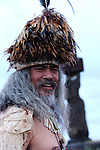 A Rapa Nui chief. Easter Island, Chile