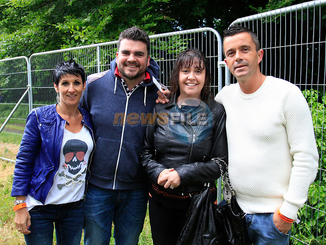 Jenny and Tony O'Brien with Mrs and Mr Gary Kelly<br /> during the Bon Jovi Concert at Slane Castle  15/6/13<br /> Picture:  Thos Caffrey / www.newsfile.ie