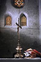 Crucifix Altar Roman Missalthe Particular Abbazia Casamari, Italy.21 March 2010