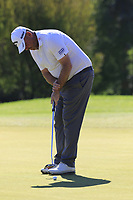 Thomas Bjorn (DEN) putts on the 10th green during Thursday's Round 1 of the 2018 Turkish Airlines Open hosted by Regnum Carya Golf &amp; Spa Resort, Antalya, Turkey. 1st November 2018.<br /> Picture: Eoin Clarke | Golffile<br /> <br /> <br /> All photos usage must carry mandatory copyright credit (&copy; Golffile | Eoin Clarke)