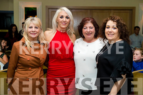 Helen Coffey, Donna Flaherty, Thresa Donovan and Debbie Moriarty at the John Mitchels GAA 'Strictly Come Dancing' at Ballygarry House Hotel on Sunday night.