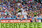 Tommy Walsh, Kerry in action against Paul Cribbin, Kildare in the All Ireland Quarter Final at Croke Park on Sunday.