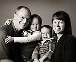 Portrait. Quinn Kirk Family- Quinn, Reese, Corbin, and Rachel.