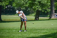 Cheyenne Woods (USA) hits her approach shot on 12 during round 2 of the 2018 KPMG Women's PGA Championship, Kemper Lakes Golf Club, at Kildeer, Illinois, USA. 6/29/2018.<br /> Picture: Golffile | Ken Murray<br /> <br /> All photo usage must carry mandatory copyright credit (© Golffile | Ken Murray)