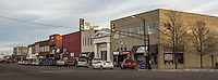 Route 66 thru downtown Weatherford Oklahoma.