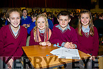 St. Finians NS Waterville pupils who took part in the Cahersiveen Credit Unions Schools Quiz in Foilmore on Sunday were l-r; Leanne O'Sullivan, Etain O'Sullivan, Cian Murphy & Aoife O'Dwyer.