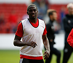 Clayton Donaldson of Sheffield Utd warms up during the Championship match at the City Ground Stadium, Nottingham. Picture date 30th September 2017. Picture credit should read: Simon Bellis/Sportimage