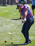 Bode Miller hits a chip shot during the ACC Golf Tournament at Edgewood Tahoe Golf Course in South Lake Tahoe on Sunday, July 14, 2019.