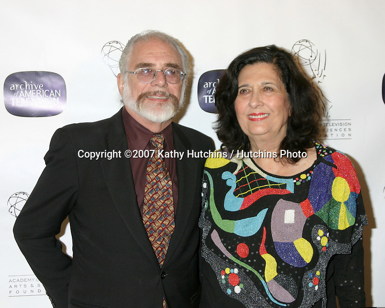 Richard & Esther Shapiro, creators of Dynasty.10th Anniversary of the Archive of the American TV.Crustacean Resturant.Beverly Hills, CA.June 4, 2007.©2007 Kathy Hutchins / Hutchins Photo....