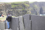 Security staff, Cliffs of Moher, Doolin, County Clare, Ireland