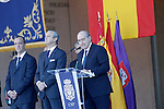 Spain's Interior Minister Jorge Fernandez Diaz attends the delivery ceremony of the Spanish flag to Spanish Police on November 10, 2015 in Avila, Spain.(ALTERPHOTOS/Acero)