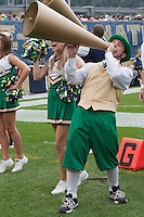 Notre Dame mascot. The Notre Dame Fighting Irish defeated the Pitt Panthers 15-12 at Heinz field in Pittsburgh, Pennsylvania on September 24, 2011.