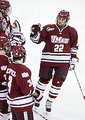 Michael Marcou (UMass - 22) - The Boston College Eagles defeated the University of Massachusetts-Amherst Minutemen 6-5 on Friday, March 12, 2010, in the opening game of their Hockey East Quarterfinal matchup at Conte Forum in Chestnut Hill, Massachusetts.
