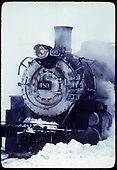 D&amp;RGW #483 K-36 in snow.<br /> D&amp;RGW  Chama, NM