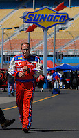 Apr 20, 2006; Phoenix, AZ, USA; Nascar Nextel Cup driver Ken Schrader (99) walks on pit road during practice for the Casino Arizona 150 at Phoenix International Raceway. Mandatory Credit: Mark J. Rebilas-US PRESSWIRE Copyright © 2006 Mark J. Rebilas.